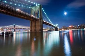 Full Moon and East River Bridge