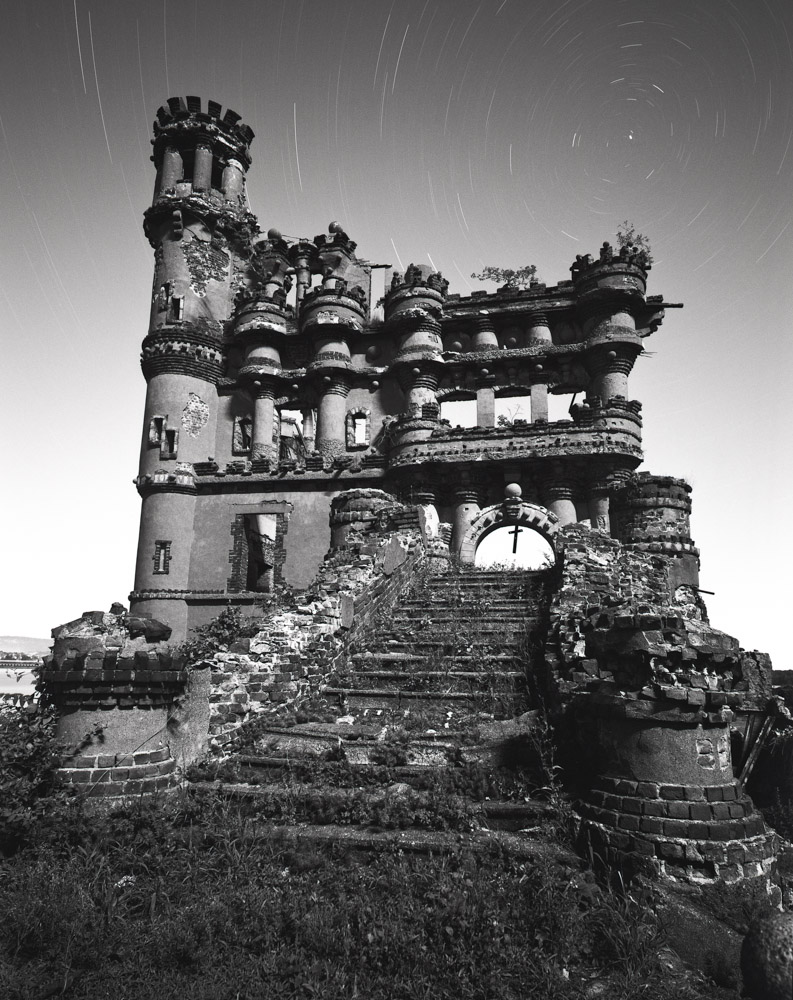 Bannerman Castle 03 ~ Mamiya 7 with 43mm lens ~ 1 1/2 hours at f/11 ~ Fuji Acros 100 film