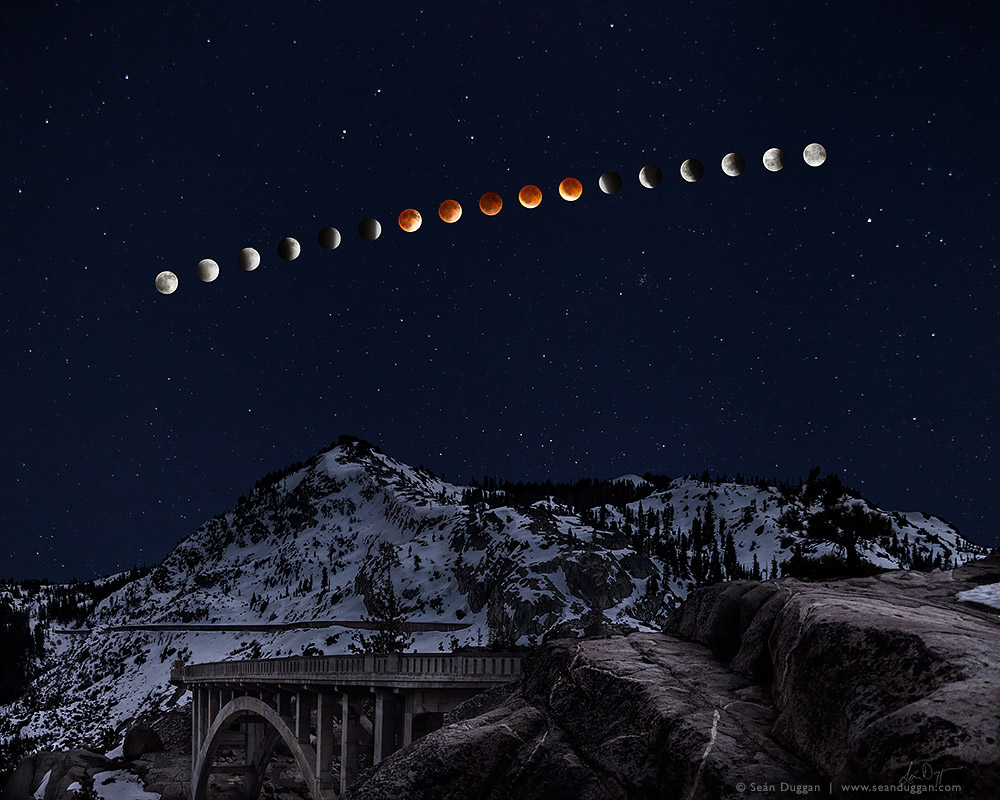 Sean Duggan ~ Lunar Eclipse Over Donner Peak