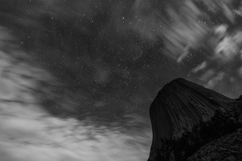 Devils Tower ~ Fujifilm X Pro 1 & 10-24 lens ~ 1m at f/4 ~ ISO 3200