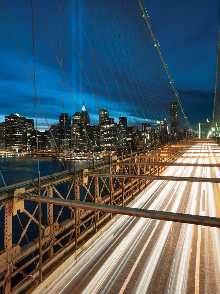 Tribute to Lights Brooklyn Bridge ~  Nikon D700 & Zeiss 21mm lens ~ 15s at f/14 ISO 200