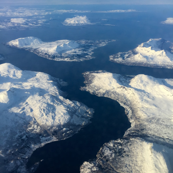 Flying along the Norway Coast part 1