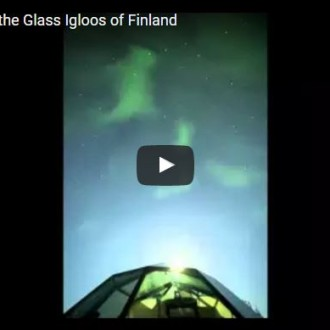 Timelapse over the Glass Igloos of Finland